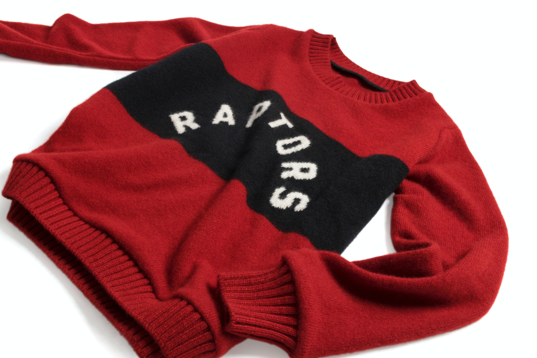 The Elder Statesman x NBA Toronto Raptors sweater   Source: Courtesy