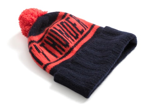 The Elder Statesman x NBA Oklahoma City Thunder beanie | Source: Courtesy
