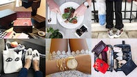 Clockwise from top left: Instagram posts from Charlotte Simone, Larsson and Jennings, Charlotte Simone, Away, Shore Projects and Eva Chen. | Image: Costanza Milano for BoF