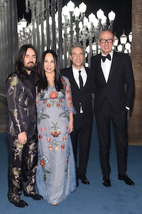 Gucci creative director Alessandro Michele, gala co-chair Eva Chow, LACMA chief executive Michael Govan and Gucci chief executive Marco Bizzarri at the LACMA Art + Film Gala 2015 | Source: Courtesy