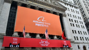 Alibaba at the New York Stock Exchange in 2015 | Source: Shutterstock