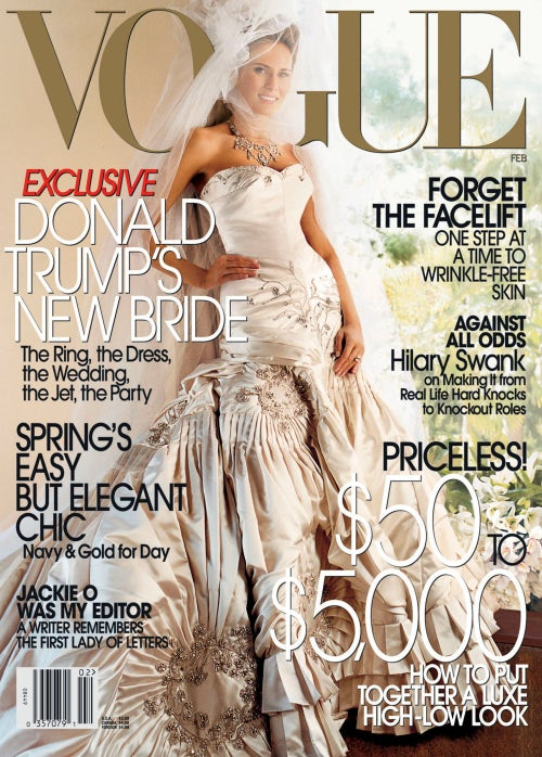 Melania Trump covers Vogue in 2005 | Source: Courtesy