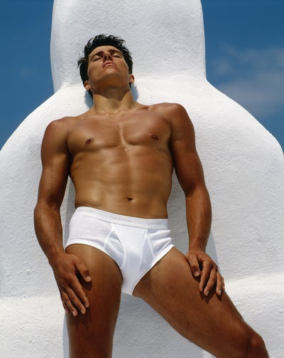 Calvin Klein campaign, Santorini, Greece 1982 | Source: Courtesy