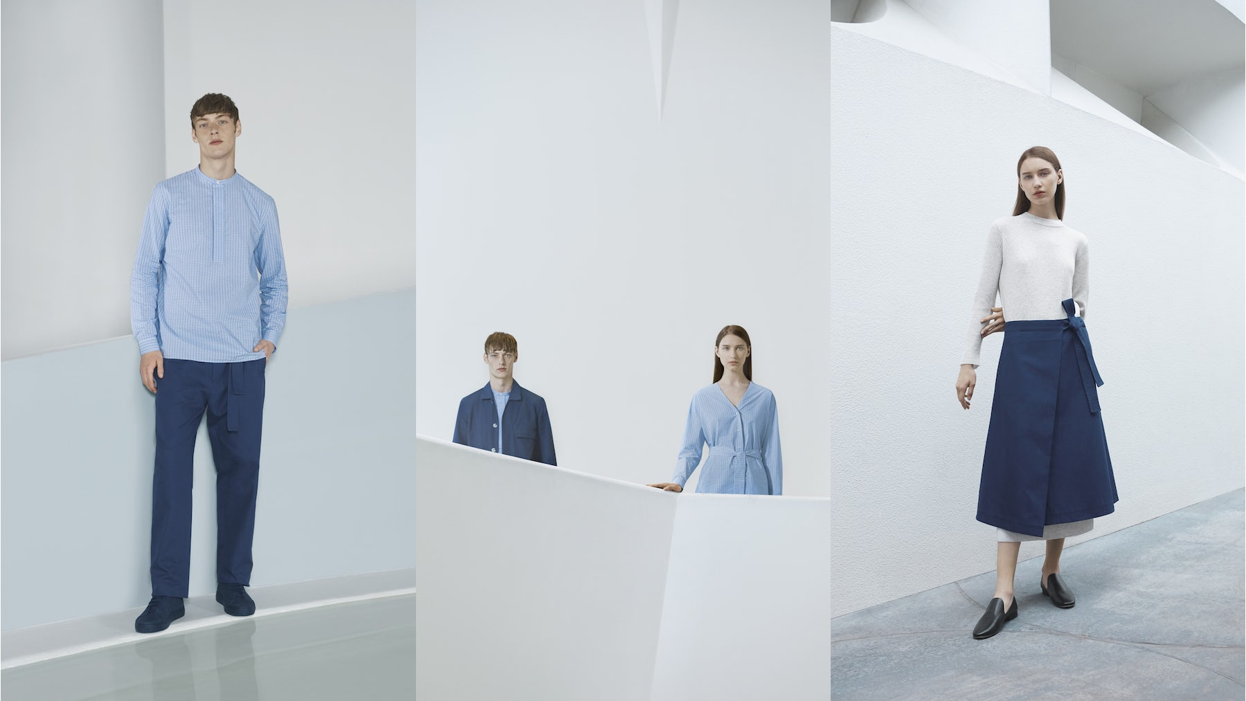 Agnes Martin x Cos, Shot on location at the Solomon R. Guggenheim Museum, New York | Source: Courtesy
