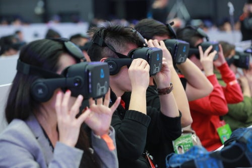 VR shopping technology Buy+   Source: VCG/ Getty Images