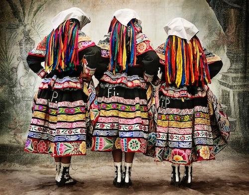 "Women's cosume for the tupay dance, Peru | Photo"" Mario Testino/Courtesy"