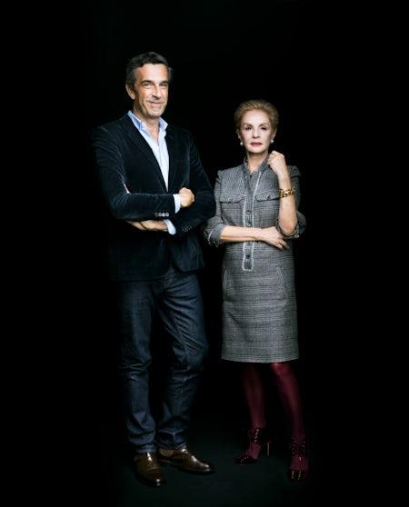 Puig chief brand officer Jose Manuel Albesa and designer Carolina Herrera | Source: Courtesy