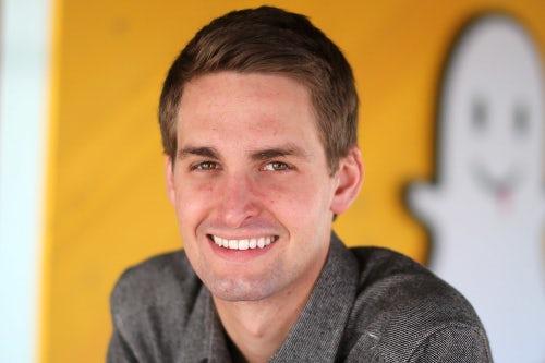 Snapchat co-creators Evan Spiegel and Bobby Murphy