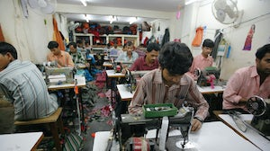 Textile workers in an Indian factory | Source: Shutterstock