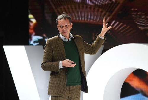 Tom Dixon speaking about immediacy at VOICES | Source: Getty