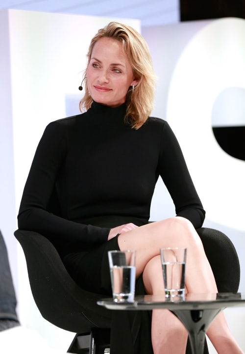 Amber Valletta on the VOICES stage | Source: Getty