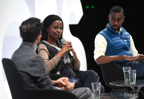 June Sarpong and DeRay Mckesson with Imran Amed | Source: Getty