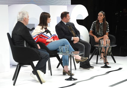 From left: Tim Blanks, Hari Nef, Ivan Bart and Joan Smalls | Source: Getty