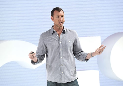 Jason Wachob on the VOICES stage | Source: Getty