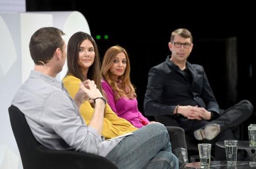 Jason Wachob, Amanda Chantal Bacon, Dr. Nigma Talib and Neil Grimmer at VOICES | Source: Getty