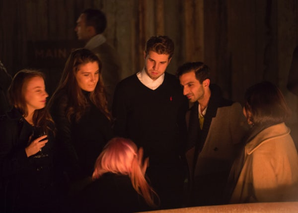 BoF founder and CEO Imran Amed chats with the Future VOICES at a post-dinner bonfire | Source: Getty