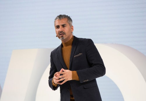 Maajid Nawaz speaking at VOICES | Source: Getty