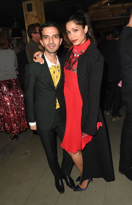 BoF founder and CEO Imran Amed with actress Freida Pinto