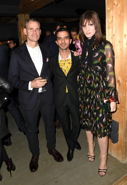 James Scully, Imran Amed and Hari Nef at the VOICES welcome drinks | Source: Getty
