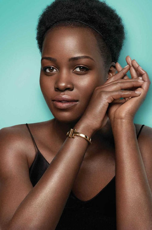 Lupita Nyong'o wearing the T collection in a campaign for Tiffany & Co. | Source: Courtesy