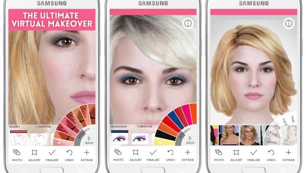 Augmented reality beauty app Modiface | Source: Modiface