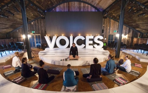 Morning meditation with Chris Connors at VOICES | Source: BoF