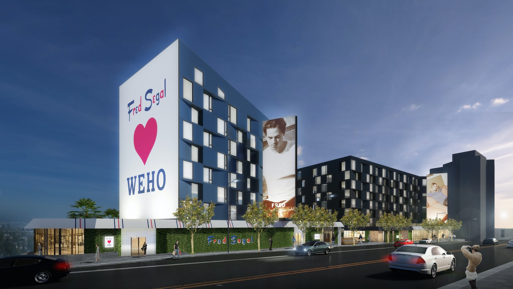 A rendering of the new Fred Segal store in West Hollywood   Source: Courtesy
