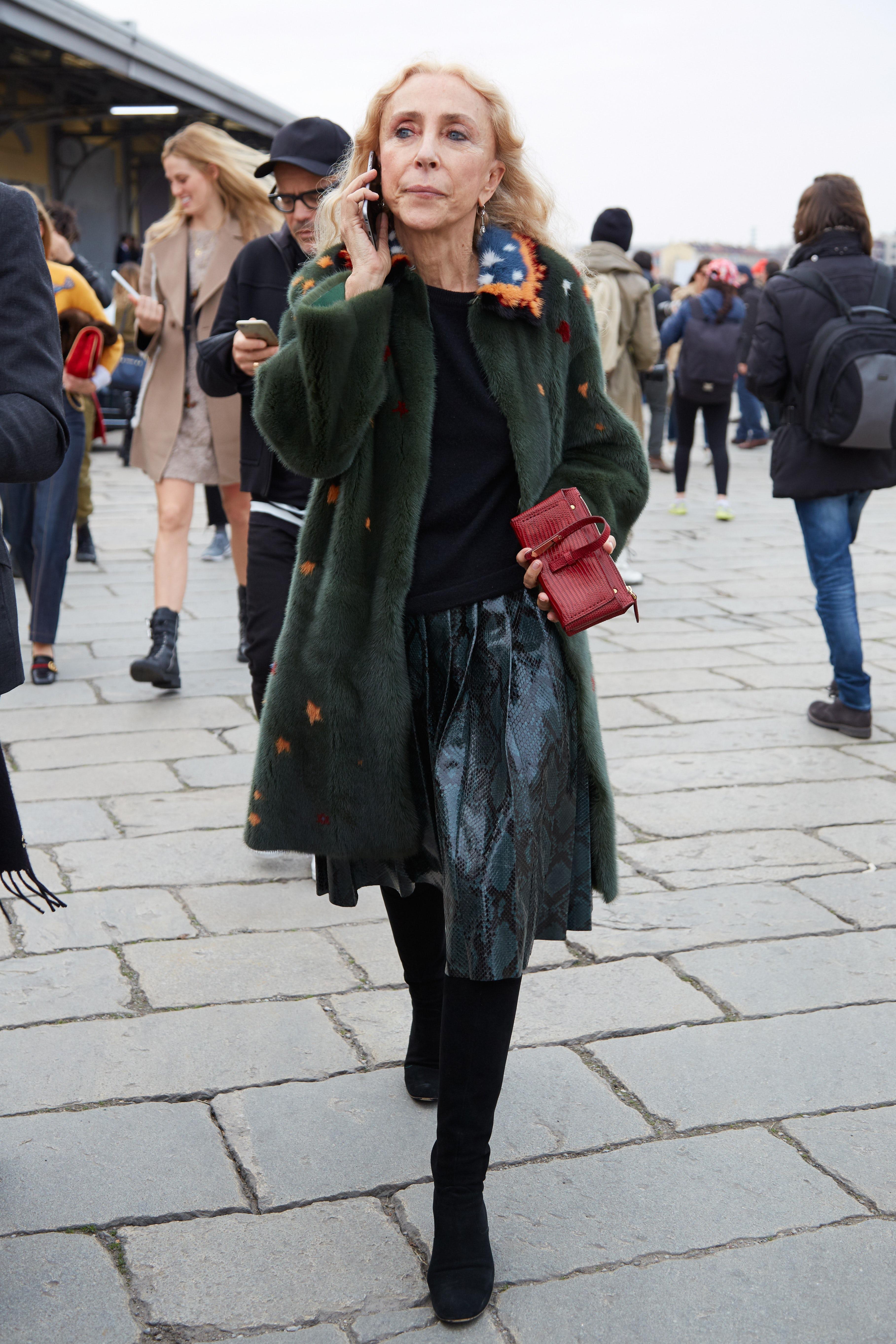 Franca Sozzani at Milan Fashion Week last February | Source: Shutterstock
