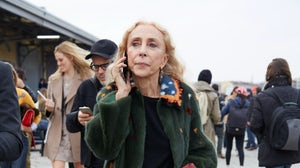 Franca Sozzani at Milan Fashion Week last February | Source: Shutterstock