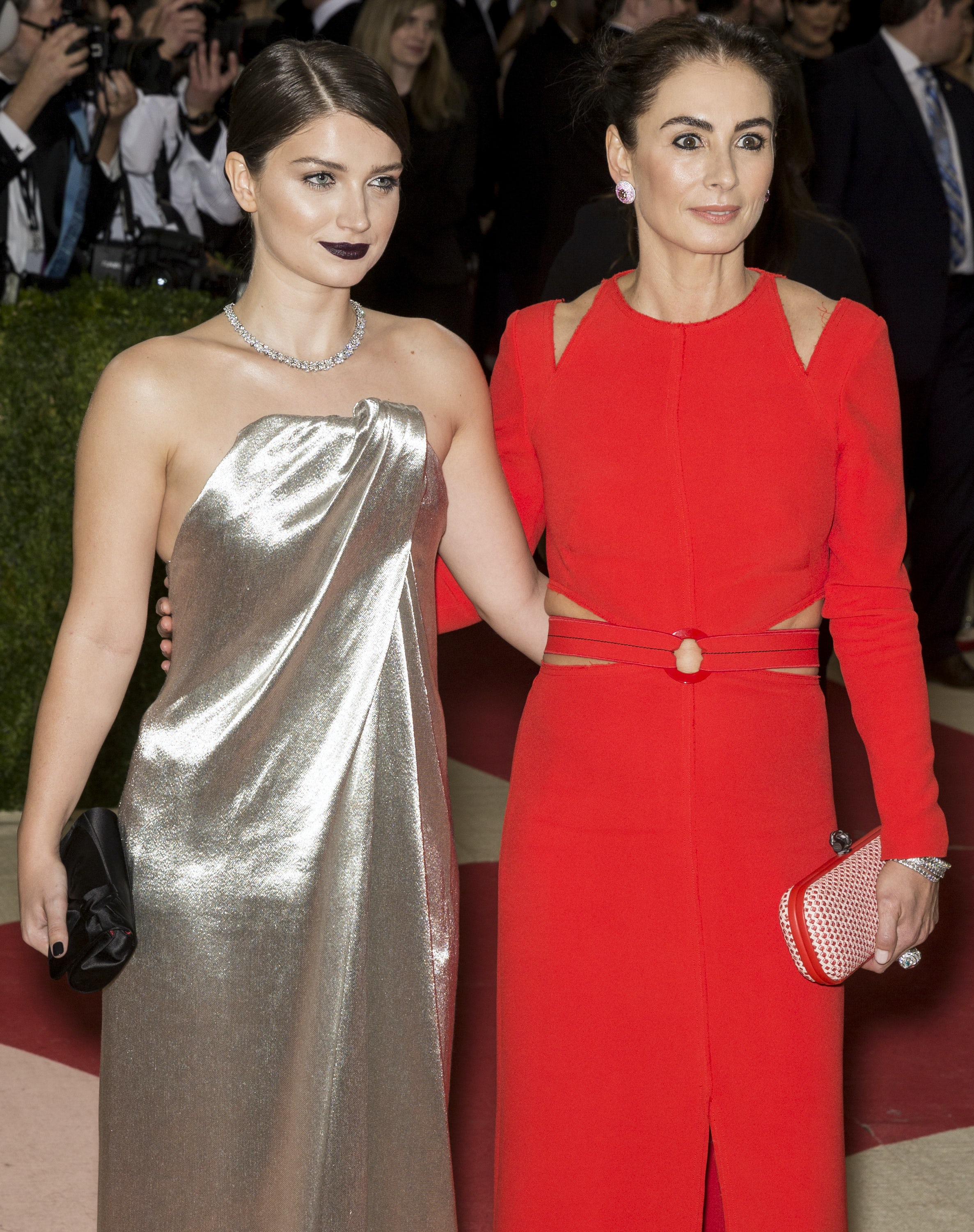 Francesca Amfitheatrof with Eve Hewson at the Met  Gala in May | Source: Shutterstock