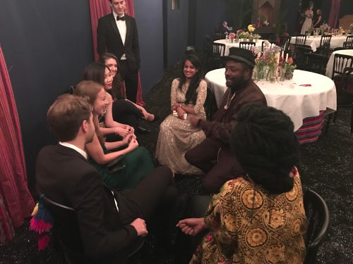 Will.i.am with the Future VOICES after the Gala DInner | Photo: BoF