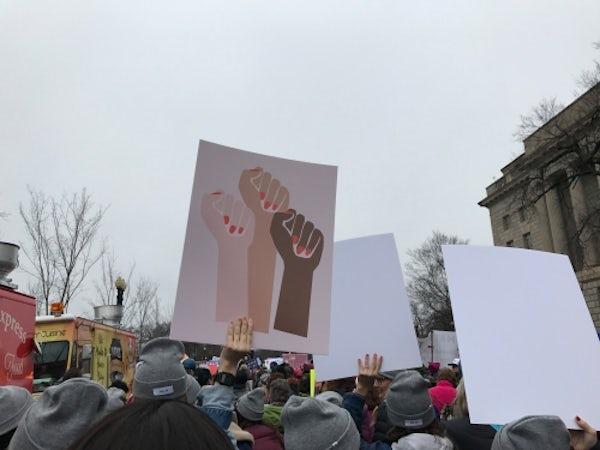 The Women's March on Washington, January 21, 2016 | Photo: Lauren Sherman for BoF