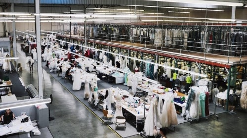 Monique Lhuillier's factory in Vernon, LA | Source: Courtesy