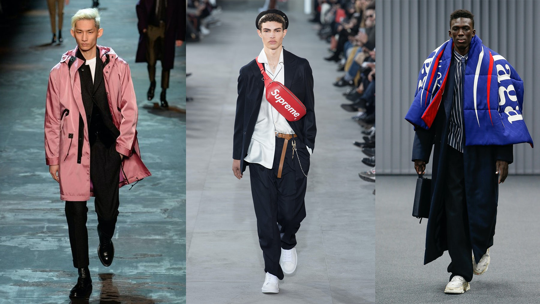 From left: Berluti, Louis Vuitton, Balenciaga | Source: InDigital