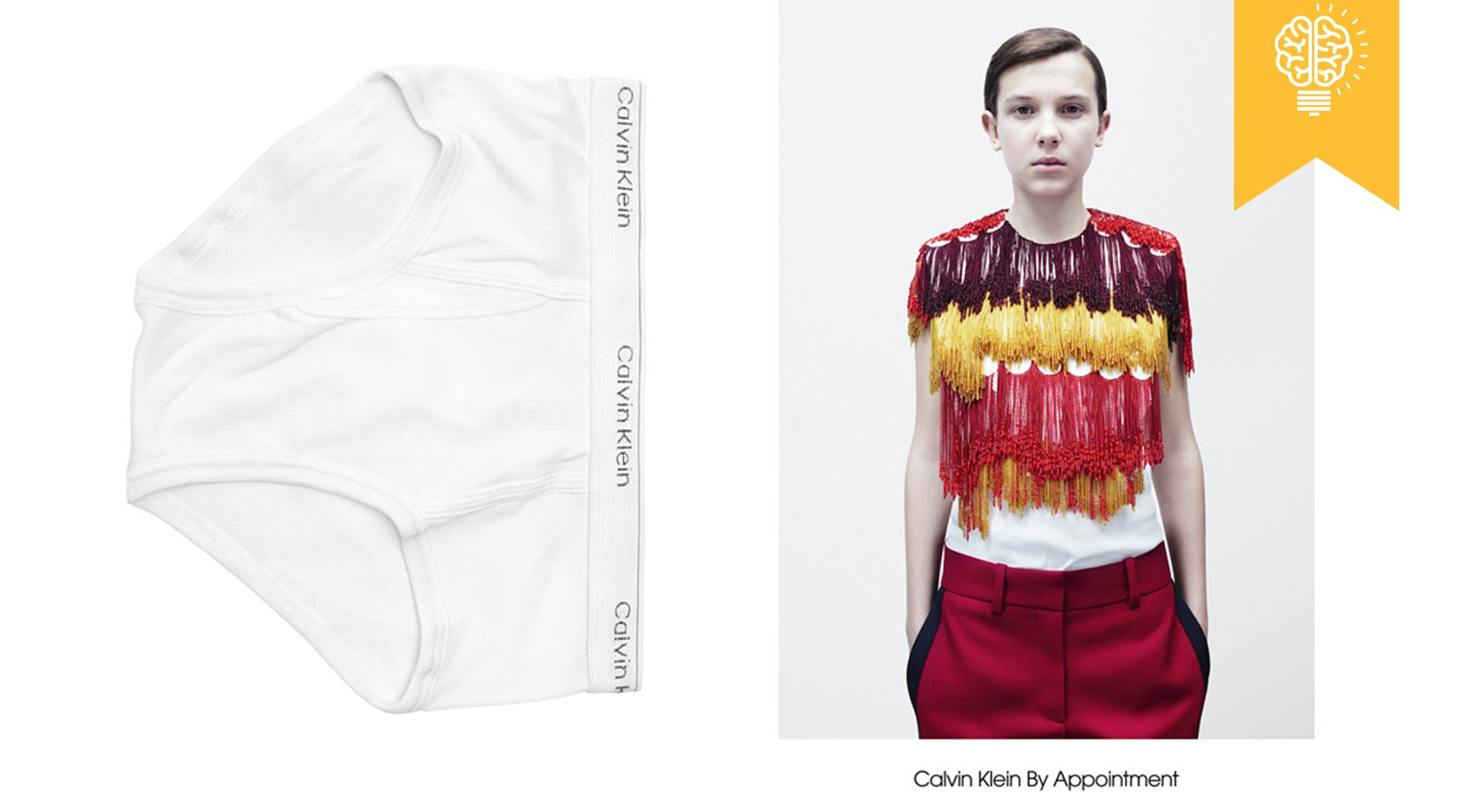 Actress Millie Bobby Brown stars in the Calvin Klein by Appointment campaign