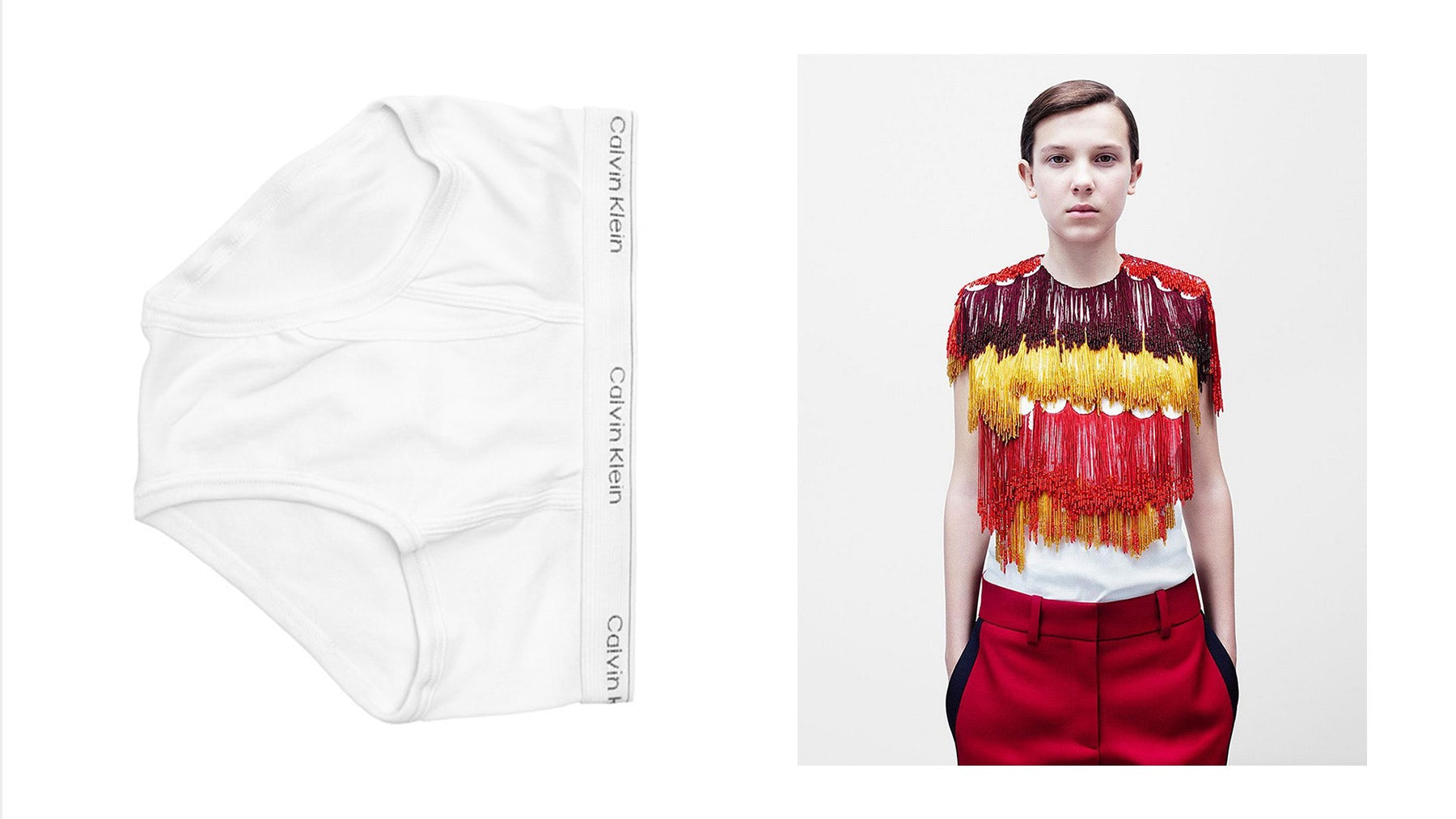 Actress Millie Bobby Brown stars in Calvin Klein by Appointment campaign