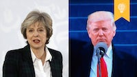 Theresa May and Donald Trump | Sources: Getty, Flickr