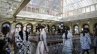 The finale of the Valentino Pre-Fall 2017 show at the Beekman Hotel | Source: Courtesy