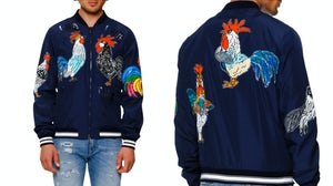 Dolce & Gabbana Sequined Satin Rooster Bomber Jacket | Source: Neiman Marcus