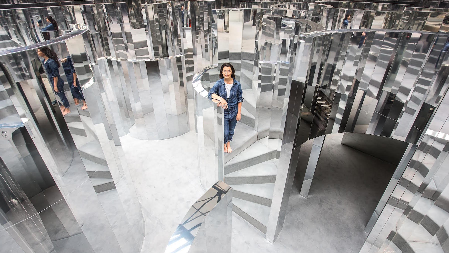 Es Devlin's Mirror Maze installation in Peckham, London, part of i-D and Chanel Fragrance's The Fifth Sense project | Photo: Victor Frankowski
