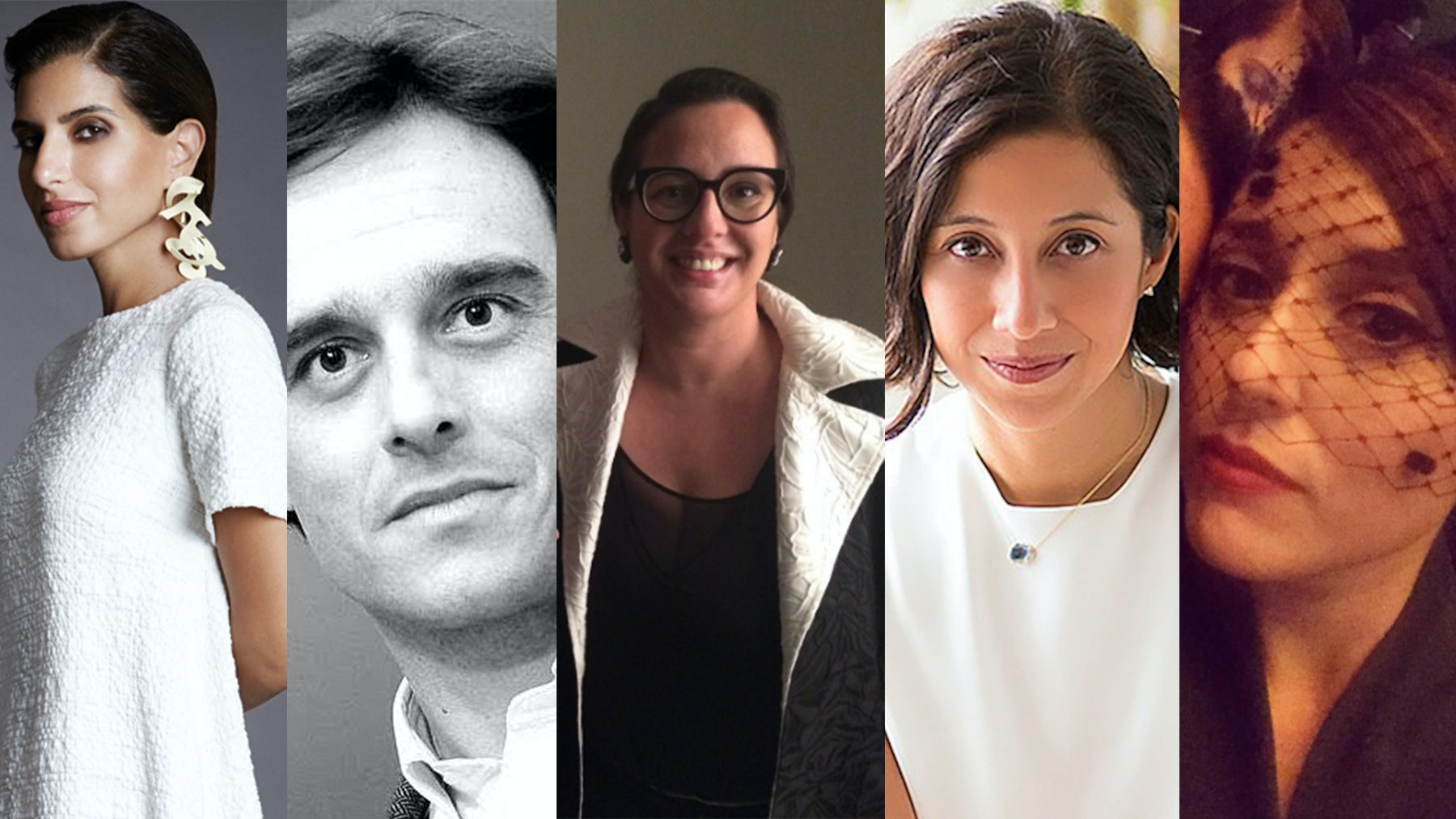 From left: Deena Aljuhani Abdulaziz, Emanuele Farneti, Silvia Rogar, Karla Martinez and Eugenia de la Torriente | Sources: Courtesty, Instagram