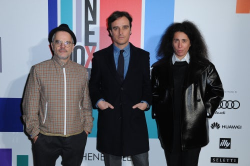 Vogue Italia's Giovanni Bianco, Emanuele Farneti, and Sara Maino at the opening of 'The Next Talents' in Milan | Source: Courtesy