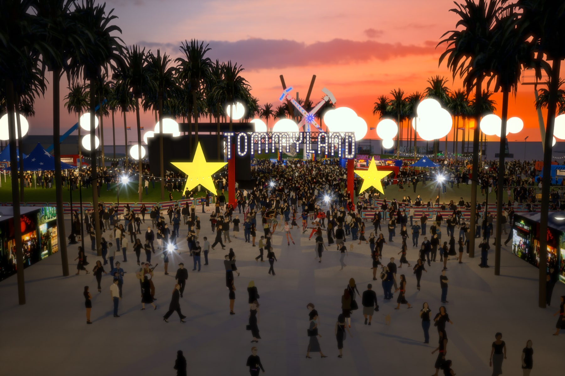 """A rendering of the """"Tommyland"""" venue in Venice Beach 