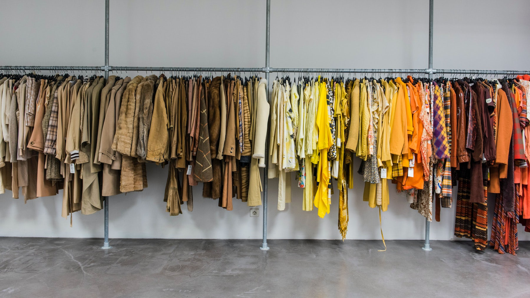 A.P.C.'s previous collections were artfully organised by colour rather than chronology | Source: Courtesy