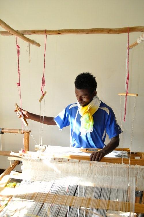 One of the Lemlem artisans at work | Source: Lemlem