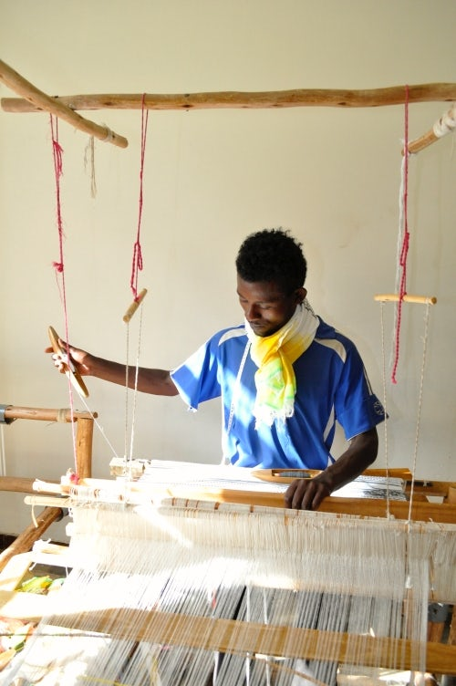 One of the Lemlem artisans at work | Source: Lemlem