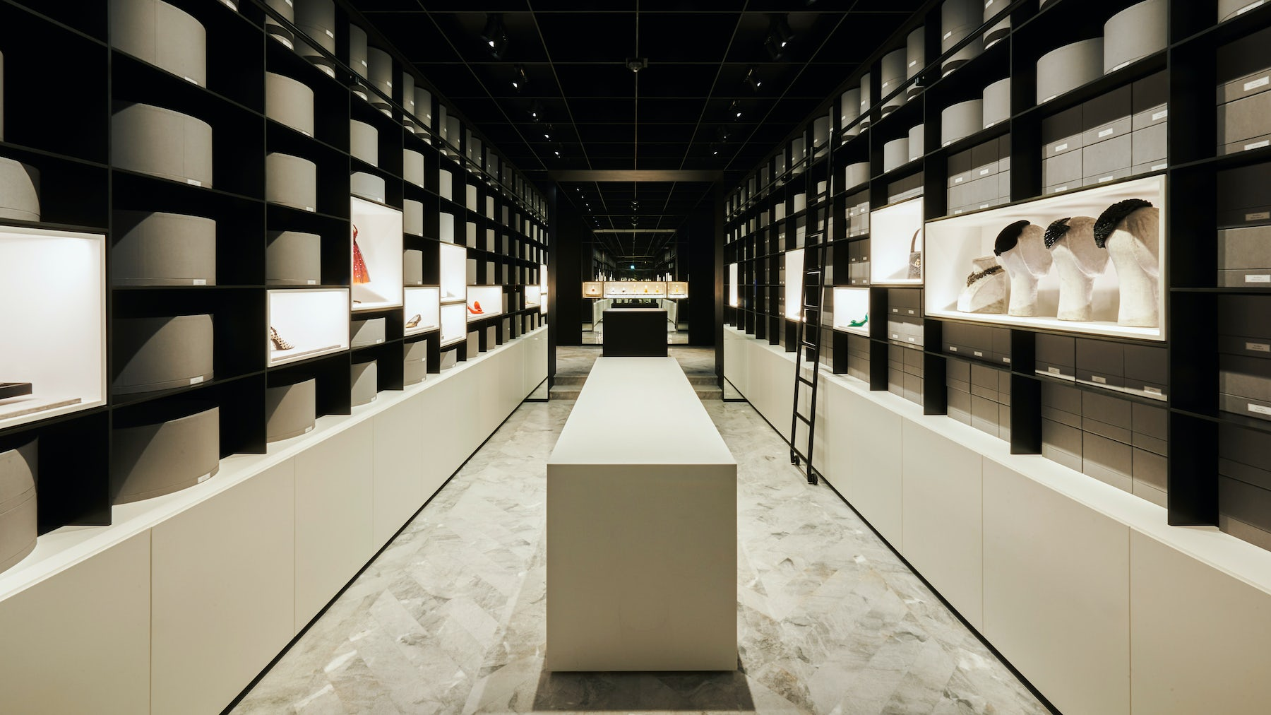 The accessories room at Dior's new archive | Source: Courtesy