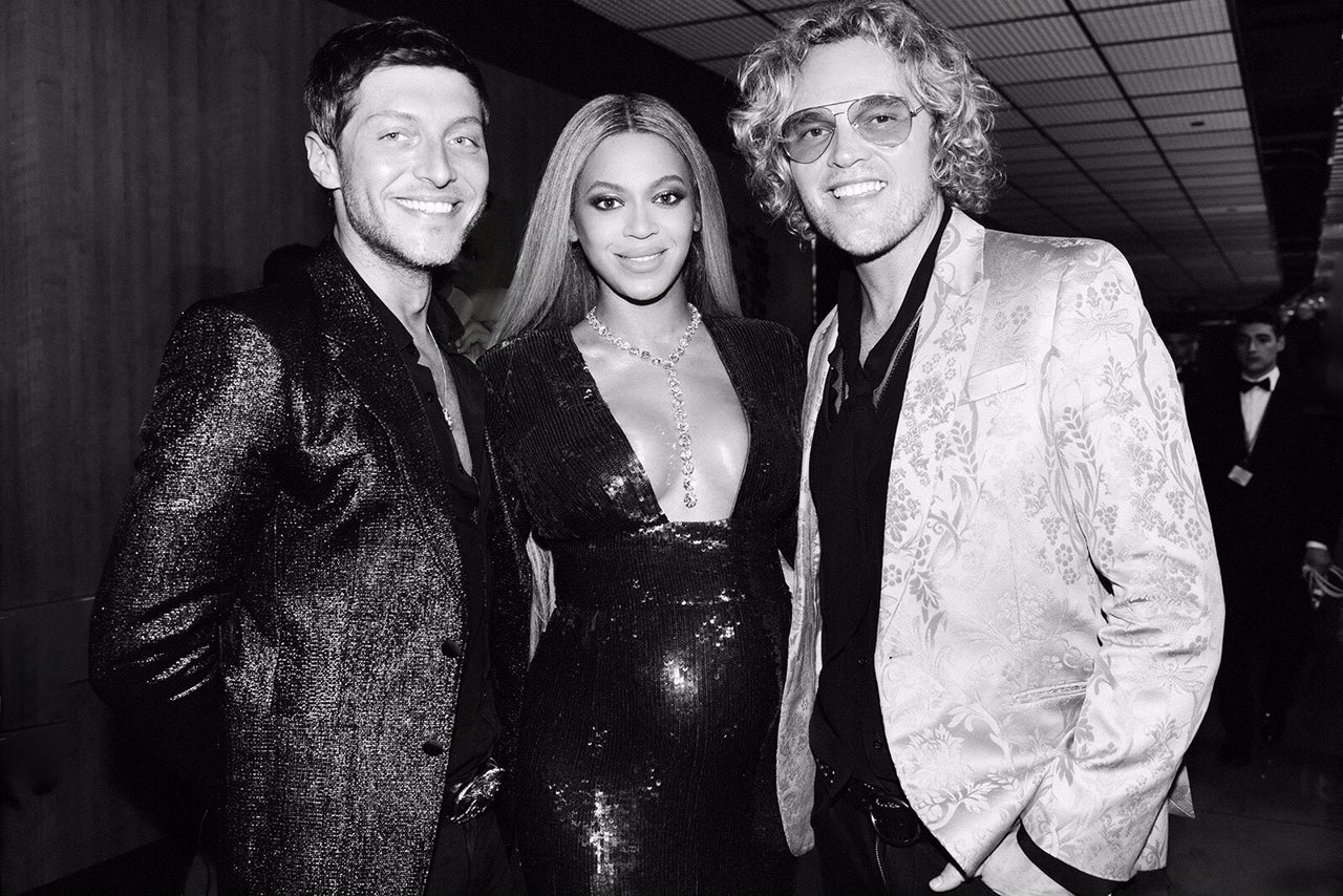 Evangelo Bousis, Beyoncé and Peter Dundas at the 2017 Grammy Awards | Source: Courtesy