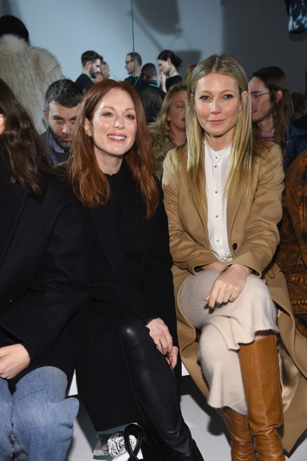 Julianne Moore and Gwyneth Paltrow at the Calvin Klein show | Source: Getty Images