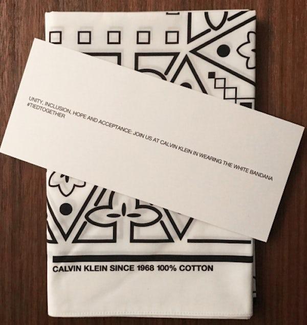Calvin Klein invitations. | Source: Business of Fashion